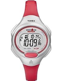 Timex Women's Ironman T5K741C2 10-Lap Silver Case Orange Strap