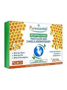 Puressentiel - Respiratory Pastilles with 3 Aromatic Honeys, 24 lozenges