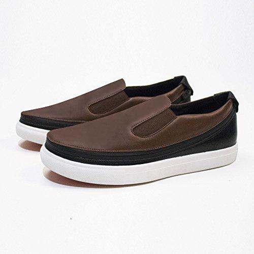 ACBC Scarpa Sneakers Urban Suola Bianca e Scarpa Nero - Caffee con Zip Aclaramiento Mejor Tienda A Comprar Nks0v
