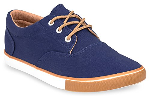 Hipster+Mens+Solid+Skate+Shoe+%2812%2C+Navy%29