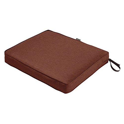 Classic Accessories Montlake Seat Cushion Foam & Slip Cover, Heather Henna, 21x19x3