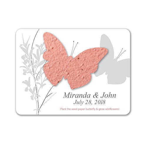 Bloomin Plantable Butterfly Wedding Favor with Seed Paper - Terra Cotta (25 Card Set) ()