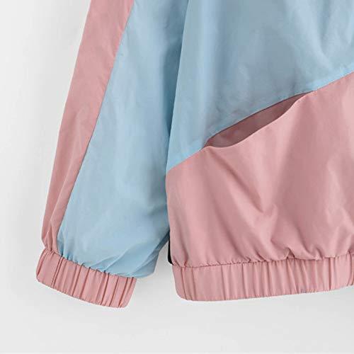 Cardigan Pink Drawstring Coat Patchwork XOWRTE Jacket Long Corduroy Hoodie Sleeve Oversize Women Windbreaker Overcoat APAqOw