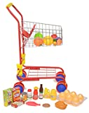 Exquise Buggy Pretend Play Shop 'N' Go Toy Shopping Cart with 36 pc Play-Food and