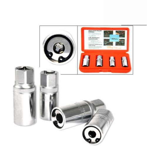 4 pc Metric Stud Puller Wrench Remover Socket ()