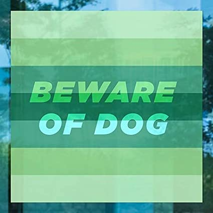 Beware of Dog 5-Pack Modern Gradient Window Cling CGSignLab 24x24
