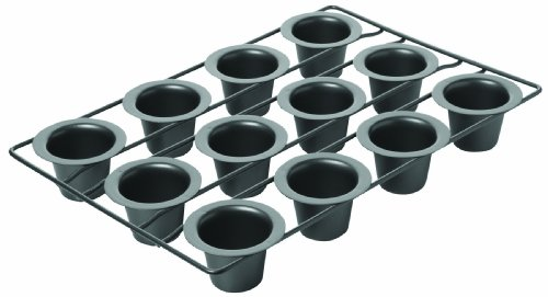 Chicago Metallic Professional 12-Cup Non-Stick Mini-Popover Pan, ()