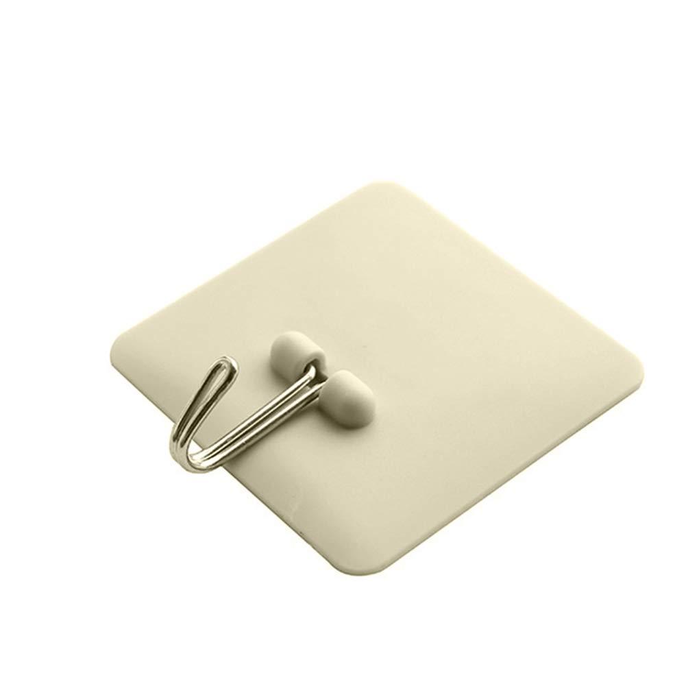 Shuda 5pcs Multifonction No Scratch adhésif Crochets pour ustensiles de Cuisine Salle de Bain Chambre à Coucher Mur Porte Fenêtre en Verre (6* 6cm), ABS, Green, 6cm*6cm