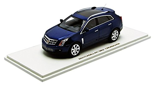 Luxury Collectibles 1/43 Scale Prefinished Fully-Detailed Resin Model, 2011 Cadillac SRX Crossover with full Moonroof in Imperial Blue #100952