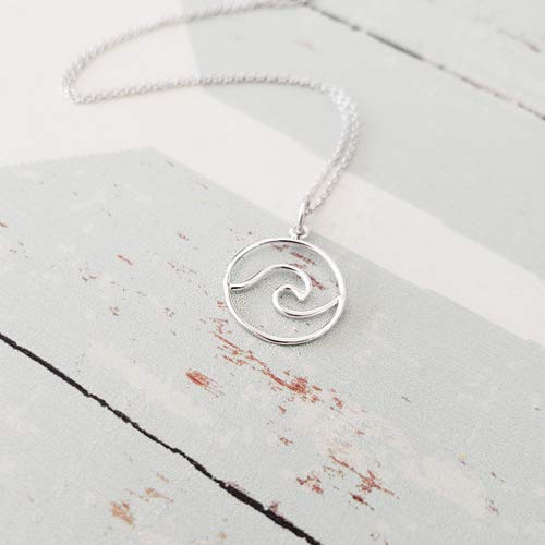 Sterling Silver Pendant Wave - Sterling Silver Wave Pendant Necklace 20