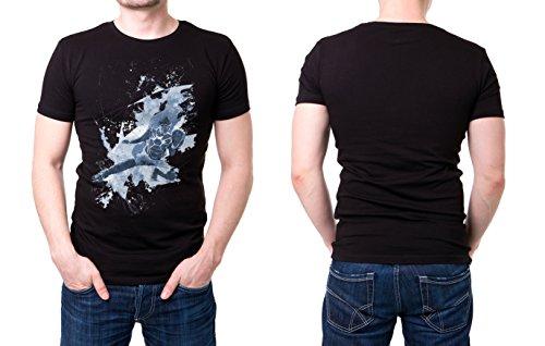 Baseball_V schwarzes modernes Herren T-Shirt mit stylischen Aufdruck