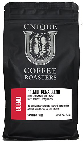 First Kona Blend - Unique Coffee Roasters- (2) 12oz. Bags - 24oz. Pack