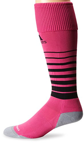 adidas Team Speed Soccer Sock, Intense Pink/Black, (454 Rugby)