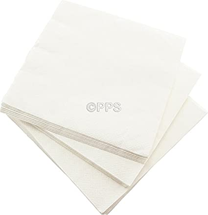 80 Servilletas de 3 capas plateado servilletas de papel – 33 cm x 33 cm Ideal
