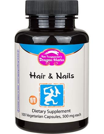 Dragon Herbs Hair & Nails -- 500 mg - 100 Vegetarian Capsules