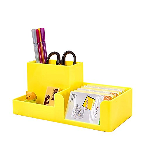 ABS Desk Supplies Organizer Caddy Yellow