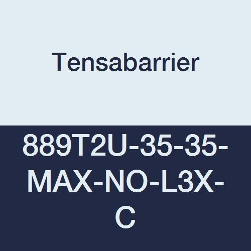 Tensabarrier - 889T2U-35-35-MAX-NO-L3X-C - yellow post, 2