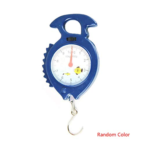 Zerama 10kg Fish Shape Weighing Hanging Scale Household Luggage Handheld Numeral Pointer Spring Balance Random Color