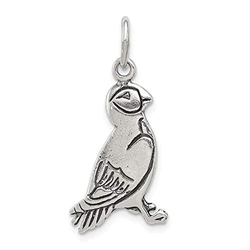 925 Sterling Silver Puffin Pendant Charm Necklace Bird Fine Jewelry Gifts For Women For Her