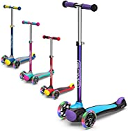 GOMO Kids Scooter 2-5 Years Old Adjustable Height Kick Scooter 3 Wheel Toddler Scooters W/Colors for Boys and