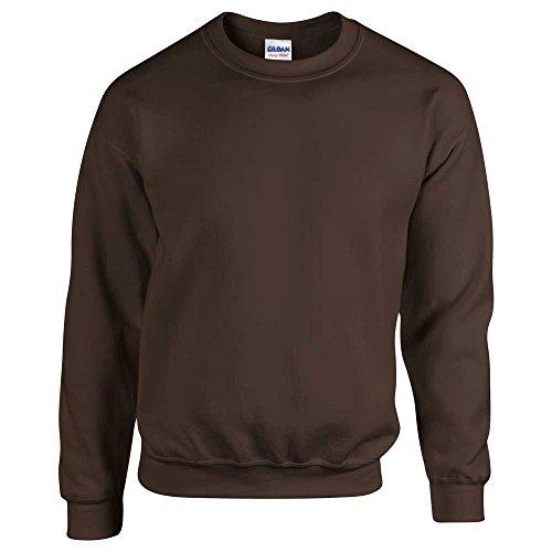 Soft Crew Chocolate Sweatshirt Super Adult 50 Dark Neck Plain 50 Gildan vtAqwPY66