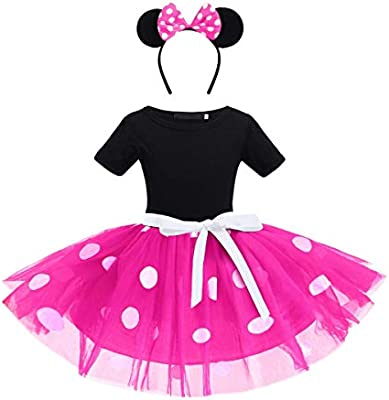 Newborn Baby Girls Christmas Costume Vintage Polka Dots Princess Tutu Dress with Headband Infant Toddler Xmas Fancy Dress Up Birthday Party Outfit Set