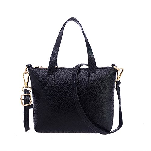 Ladies Purse (VIASA Women Fashion Handbag Shoulder Bag Tote Ladies Purse Massenger Bags (black))