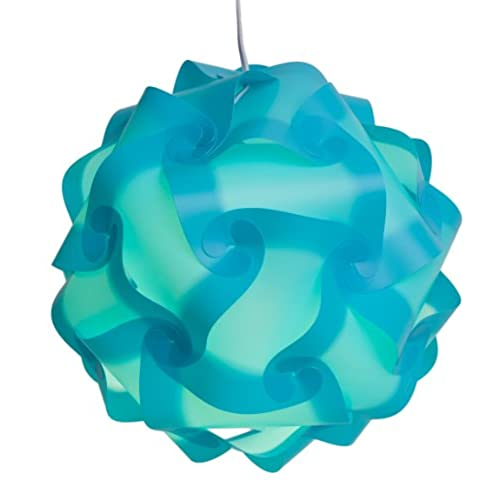 Aqua lamp shades amazon niki nu lites s111 a puzzle lamp shade kit small aqua aloadofball Choice Image