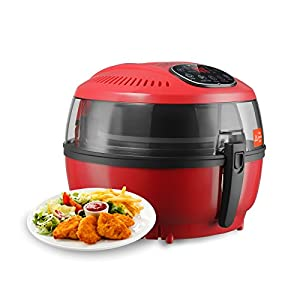 KUPPET YA700 Air Fryer 4.23QT/4L Large Capacity,1500-1700W,Digital Display Touch Screen - With Detachable Dishwasher Safe Basket - Timer Temperature Control-Healthy With Oilless, Red