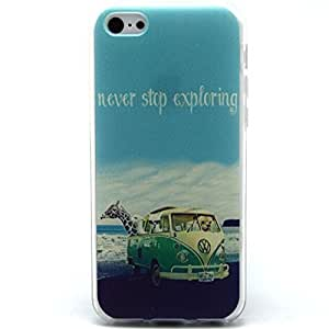 iPhone 5C Case, iPhone 5C Case - Sunshine Case Fashion Style Colorful Painted Never Stop Exploring TPU Case Back Cover Protector Skin For iPhone 5C ( Never Stop Exploring )