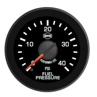 ISSPRO R17055 EV² Fuel Pressure 0-40 - Full Kit, Black Face, Red Pointer, Green Backlight, Black Bezel, Black Hub