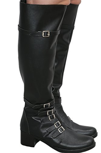 Scarlet Witch Black PU Knee-high Boots Shoes Costume Cosplay Prop Female US8.5 by Hotwinds (Image #5)