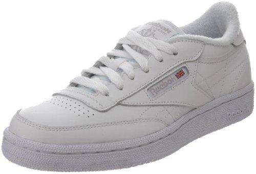 Reebok Kids' Club Fashion Sneaker,White/Sheer Grey,4 M US Big Kid