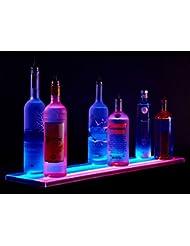 27 Double Wide LED Liquor Shelf With Wireless Remote Control Bottle Shelf