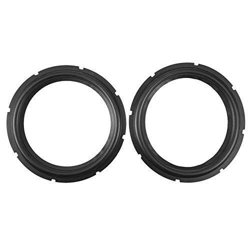 10inch Perforated Rubber Speaker Foam Edge Subwoofer Surround Rings Replacement Parts for Speaker Repair or DIY (Black)(2pcs)
