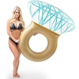 Giant Inflatable Diamond Engagement Ring Pool Float - Bachelorette Party Stagette Swimming Floaty