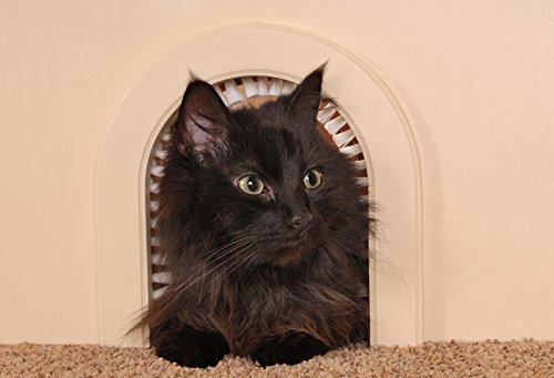Cat Door Cathole Interior Pet Door With Cleaning Brush Pet Supplies
