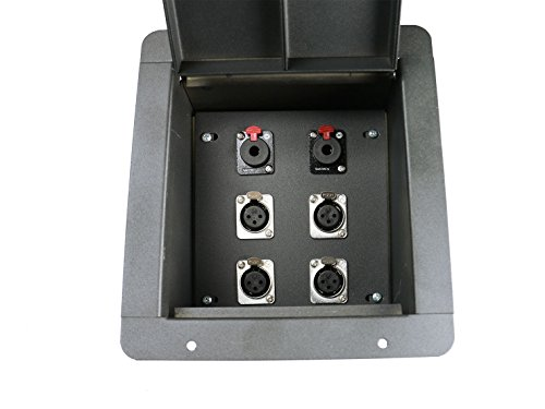 Elite Core   FB4-QTR   Recessed Floor Box   4 XLRF and 2 Locking 1/4