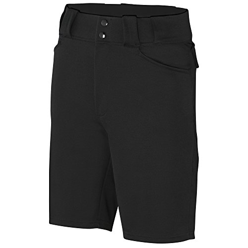 "Adams Shorts Referee Football 9"" Poly/Spandex, Black, 36"""