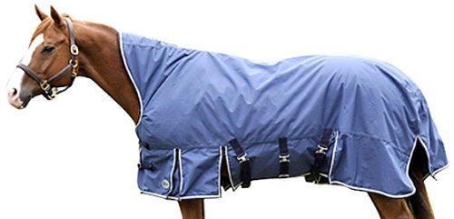 Intrepid International Kozi Max Mid Neck Medium Weight Turnout Blanket, Navy, 76-Inch