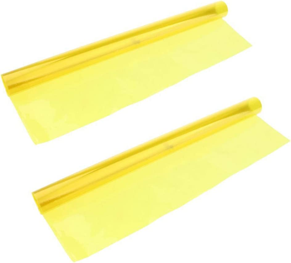 2X Color Correction Gel Filter Overlays Transparency Color Film Plastic Sheets Gel Lighting Filters Yellow 2019