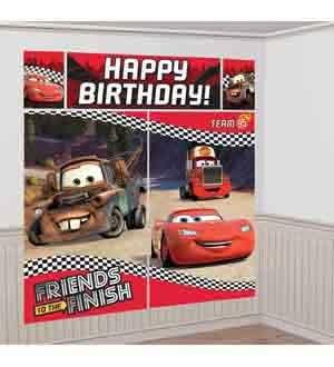 AmscanDisney Cars Formula Racer Birthday Party Scene Setters