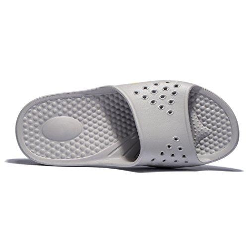 Slip Rubber Men's Grey Sandals Slipper Floor Shower Indoor Slippers Shoes Anti Bath Soft Fendou Pool q6XwYdYU