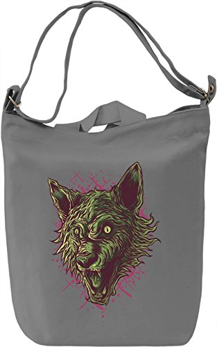 Wolf head Borsa Giornaliera Canvas Canvas Day Bag| 100% Premium Cotton Canvas| DTG Printing|