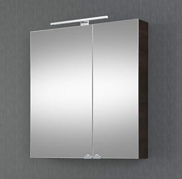 Planetmobel Spiegelschrank Badezimmer Mit Led Beleuchtung 60 Cm