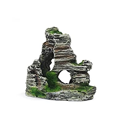uxcell Aquarium Decoration Aqua Landscape Artificial Mountain 11x5.5x9.5cm by uxcell