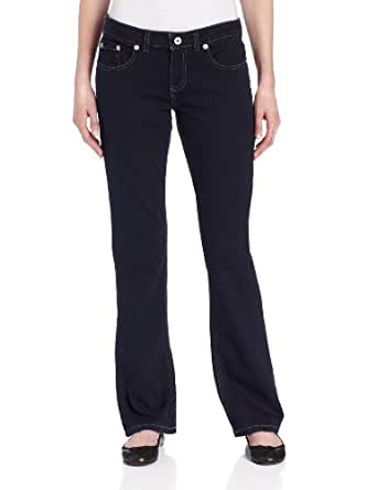 Dickies Women's Relaxed Boot Cut Jean, Dark Stonewash, 6 Tall