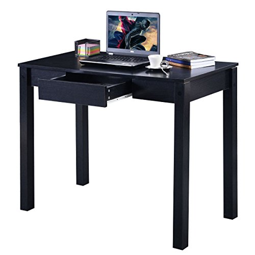 MasterPanel - Study Desk Computer Table Drawer Modern Decor Furniture Home Office Black #TP3258