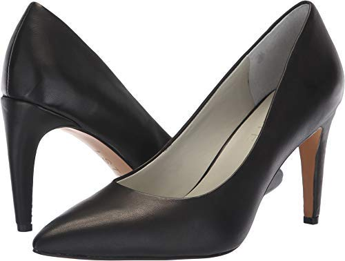 1.STATE Womens 1S-HEDDE Leather Pointed Toe Classic Pumps, Black Nappa, Size 8.0