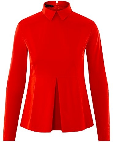 Ultra Basque Rouge Coton Chemisier Femme 4500n oodji en RqZOqw